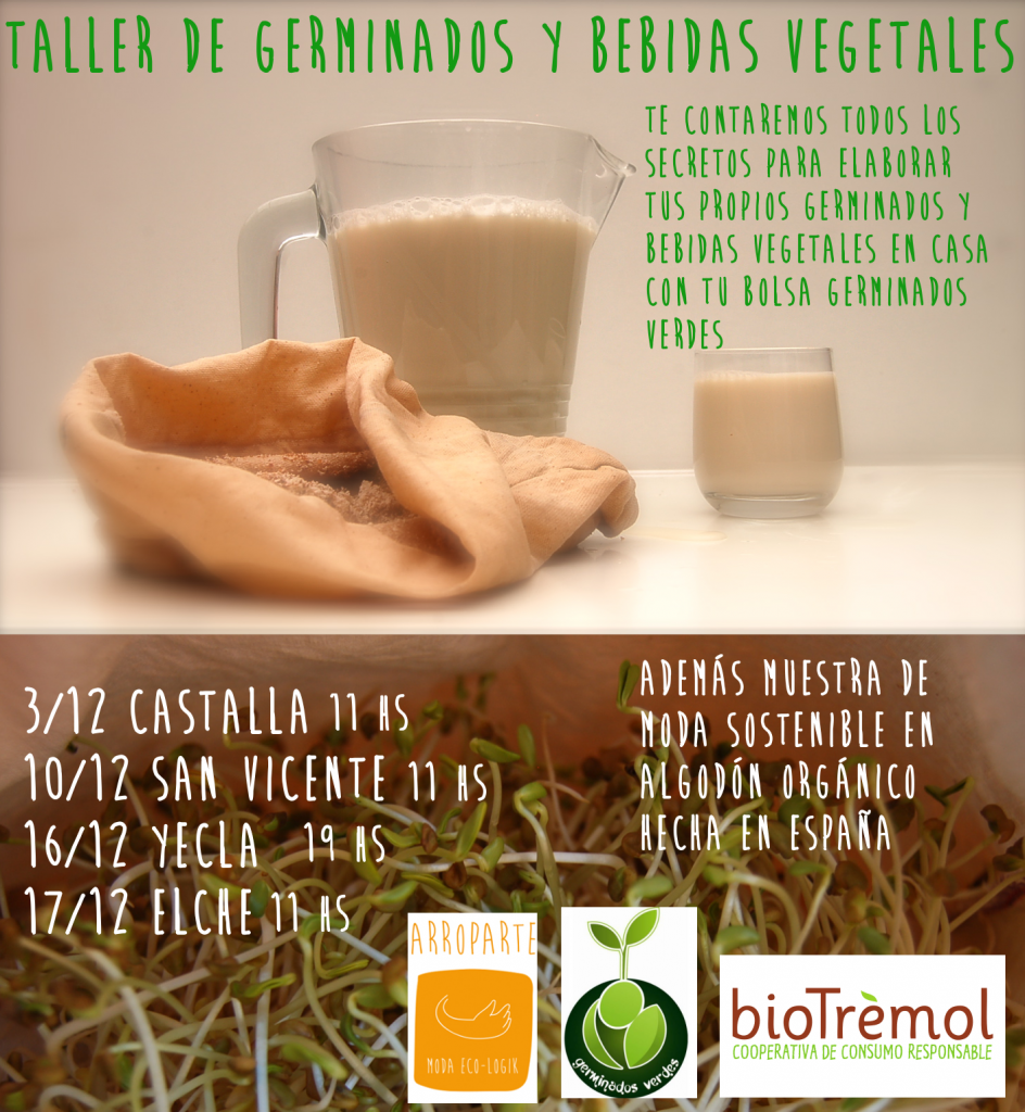 Taller de germinados y bebidas vegetales @ BioTremol Elx | Elche | Comunidad Valenciana | España